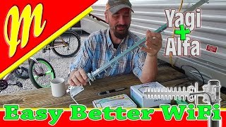 Best RV WiFi Setup so far Yagi WiFi Antenna, AWUSO36NH-Alfa, ALFA R36