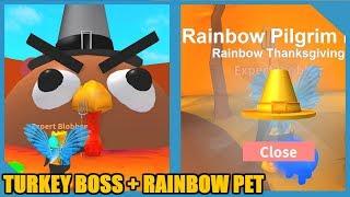 NEW RAINBOW THANKSGIVING PET + TURKEY BOSS! (Roblox Blob Simulator Update)