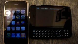 IPHONE 3GS VS NOKIA N900 VIDEO