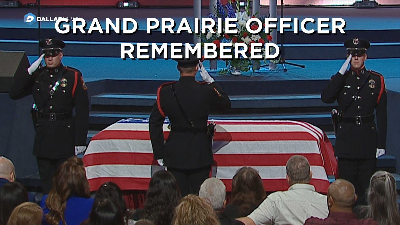 Grand Prairie Police officer A J  Castaneda's funeral