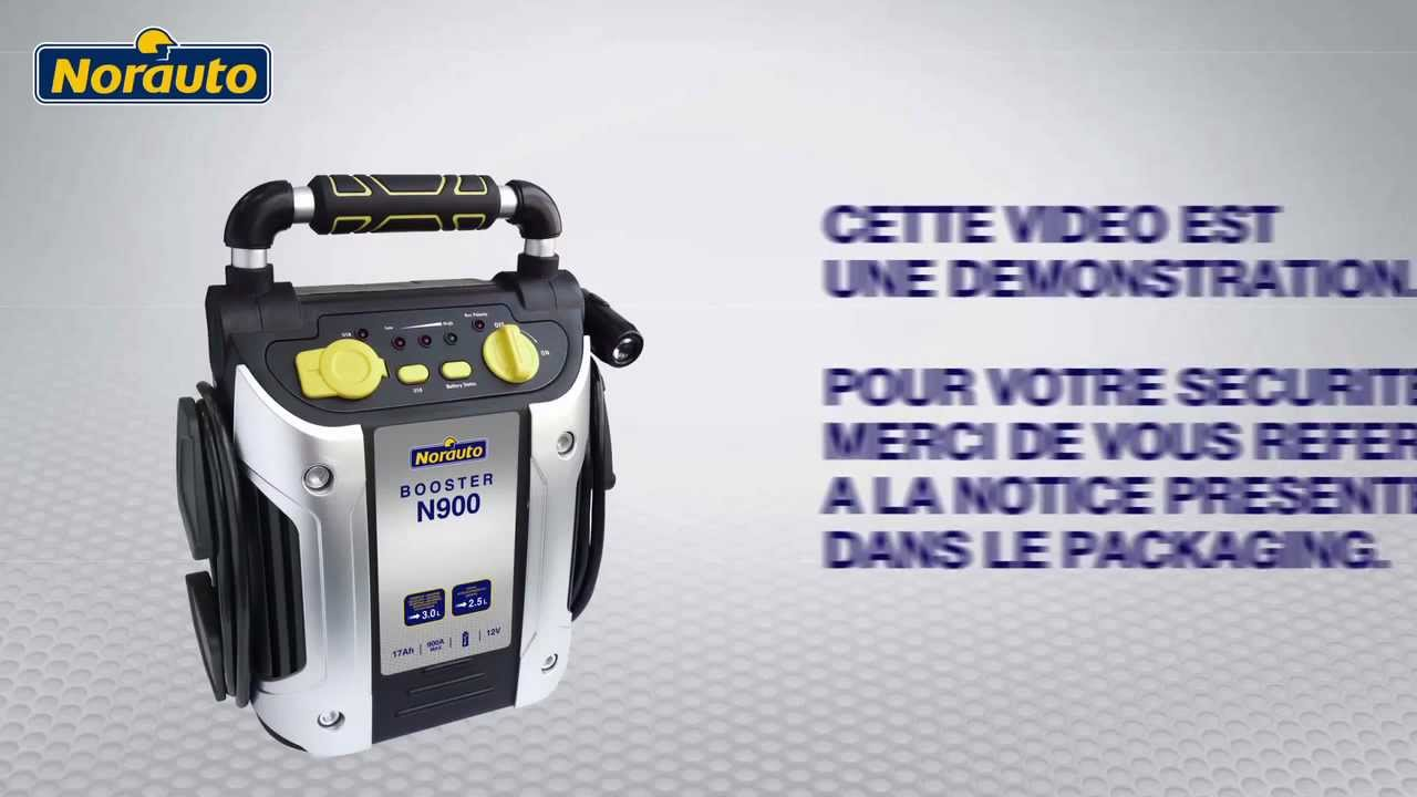 Booster norauto n900 disponible sur youtube - Booster batterie norauto ...