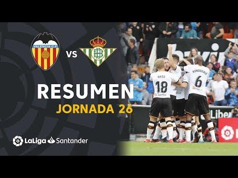 Resumen de Valencia CF vs Real Betis (2-1)