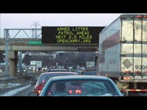 Open Carry Litter Pickup Spreads To Washington? (guns)