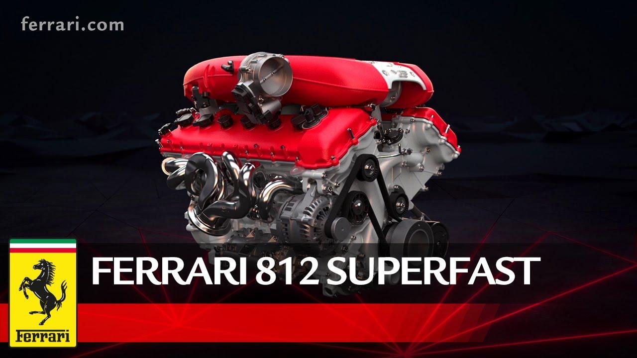 Ferrari 812 Superfast Powertrain Youtube