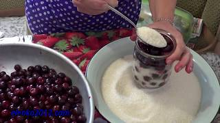 рецепт вишня в собственном соку видео