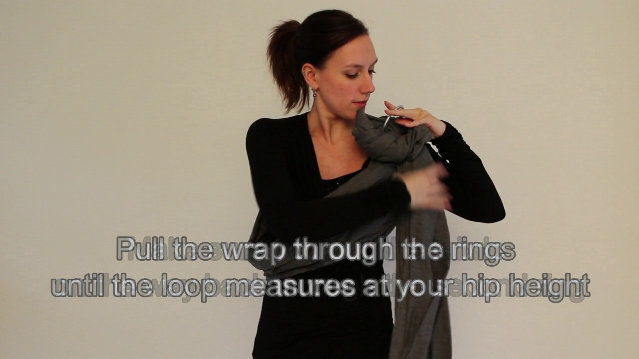 Lc Baby Ring Sling Carrier Instructions Video Youtube