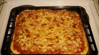 Пицца домашняя на противне, видео рецепт как приготовить пиццу быстро(Домашняя Кухня приветствует всех проголодавшихся на своем канале! Сегодня у нас будет #пиццадомашняя на..., 2015-10-11T08:56:57.000Z)