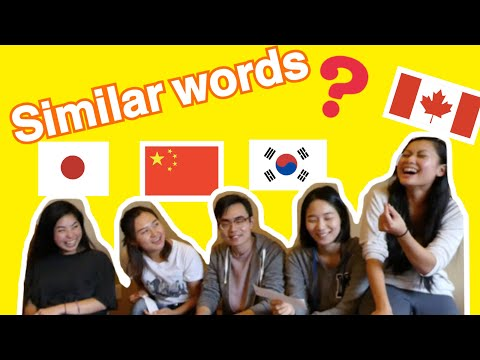Japanese, Chinese & Korean Similar Words - Can you hear the difference?