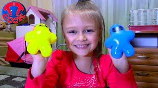 Открываем Необычные Игрушки с Ярославой - Волшебные Пузыри, Магнитный Пластилин Видео для детей