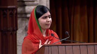 Pakistani activist Malala Yousafzai says those who kill in the name of Islam do not share her Muslim faith. In a Wednesday address to Parliament, Yousafzai praised Canadians for standing together in the face of terrorism.