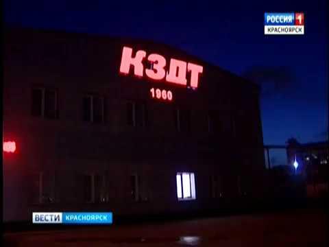 В Красноярске из-за сильного ветра на одном из предприятий сорвало крышу