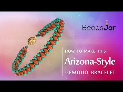 Arizona-Style GemDuo Bracelet | Seed Beads simple design