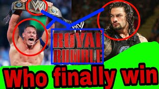 This superstar will beat everyone in WWE Royal Rumble match[Game of lesson WWE]