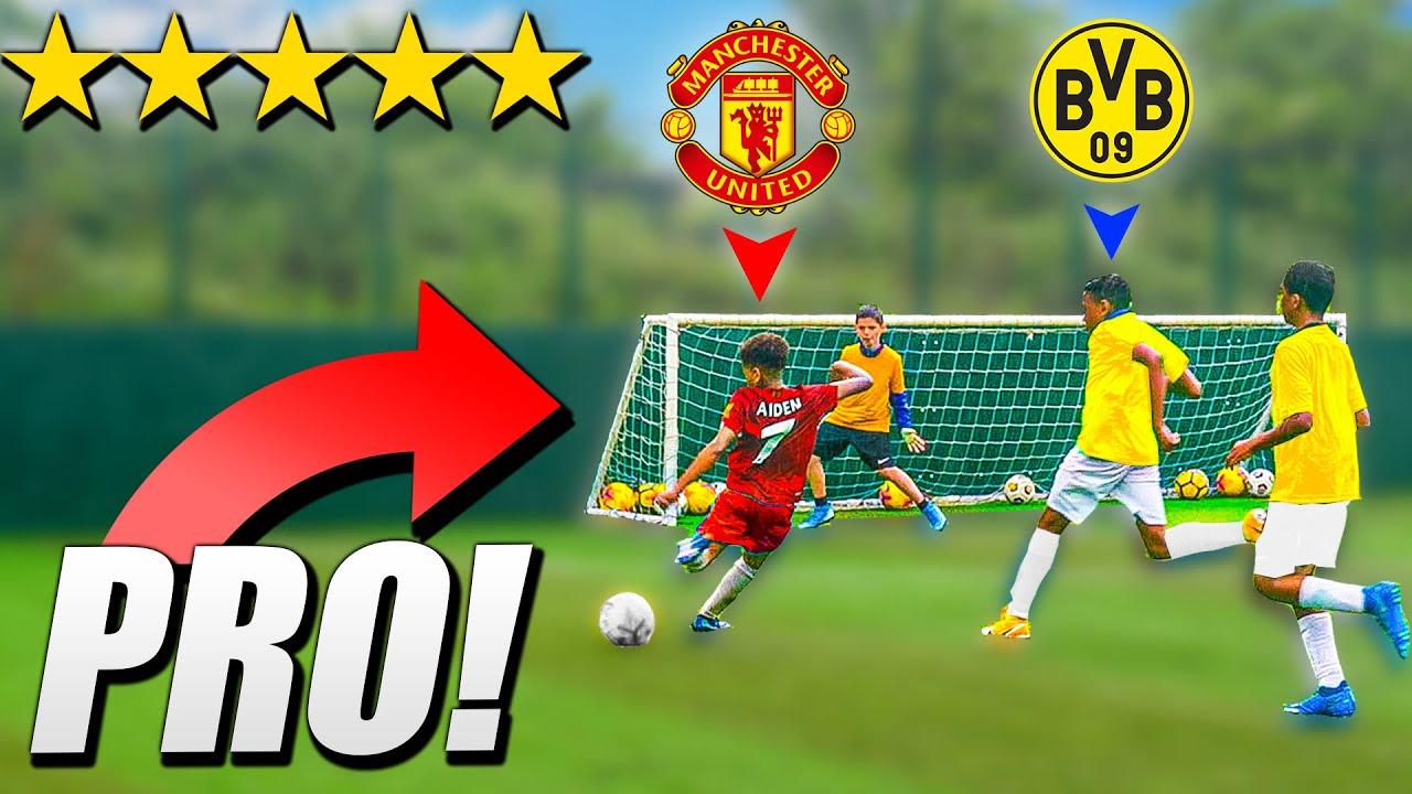 I Challenged Kid PRO Footballers to A Football Tournament! MAN UNITED KID SANCHO vs KID HALAAND!!