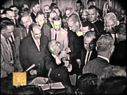 LBJ Signs Civil Rights Act of 1964 With More Than 70 Pens