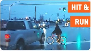 Bicyclist Gets Hit By Truck | Hit and Run