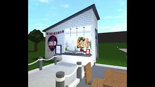 ROBLOX   BLOXBURG   Lobster Shack bar restaurant shop Speedbuild Food Roleplay