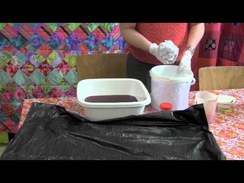 Comment teindre un tee-shirt en dégradé? - YouTube