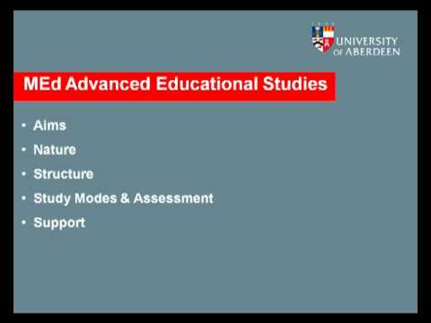 MEd Advanced Educational Studies
