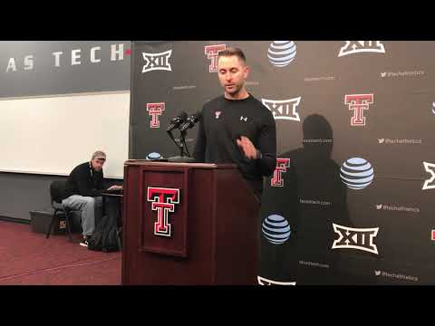 Texas Tech coach Kliff Kingsbury press conference after Oklahoma loss 11/3/18