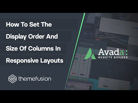 How To Set The Display Order And Size Of Columns In Responsive Layouts Video