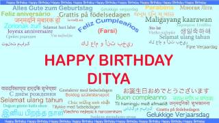 Ditya   Languages Idiomas - Happy Birthday
