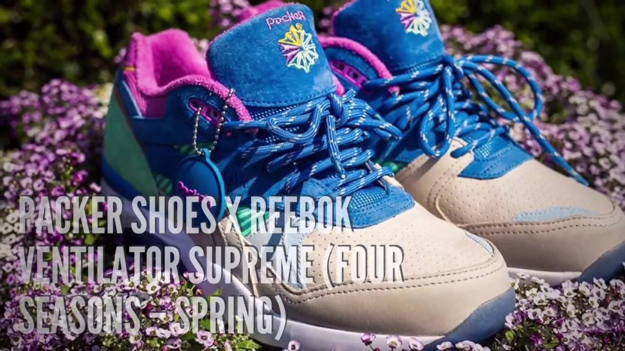 PACKER SHOES x REEBOK VENTILATOR SUPREME (FOUR SEASONS – SPRING)  SNEAKERS  STAR - YouTube ac7f5acf227a