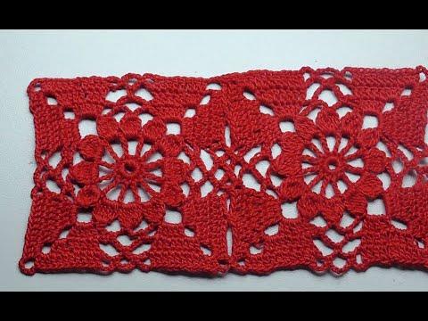 Easy Crochet  Square  Легкий квадрат крючком