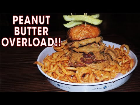 Peanut Butter Bacon Burger Challenge w/ Curly Fries in Colorado!!