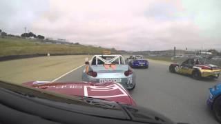 Turn 1 of the Global MX-5 Cup at Mazda Raceway Laguna Seca - Glenn McGee