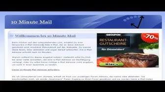 E-mail Adresse ohne Registrierung FREE (10minutemail.com) [HD] - TutorialChannel