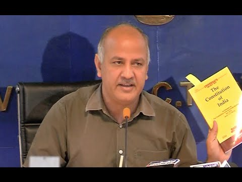 Deputy Chief Minister Manish Sisodia's Press Conference.