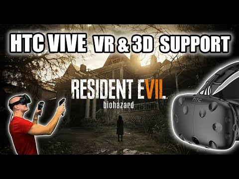 Resident Evil 7 VR HTC Vive Gameplay with 3D-support in vorpX latest update - And how it works!