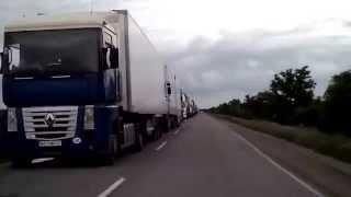 Стихийный митинг водителей на КПП Каланчак, граница с Крымом(, 2015-06-27T10:12:08.000Z)