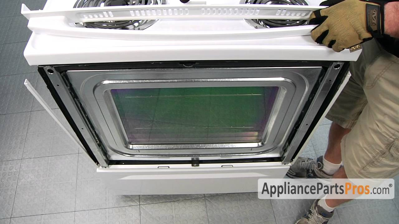 Oven Outer Door Gl (part #WPW10118454)-How To Replace on