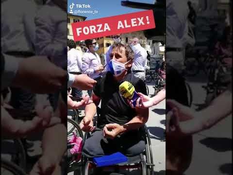 Alex Zanardi a Firenze il 18 giugno 2020