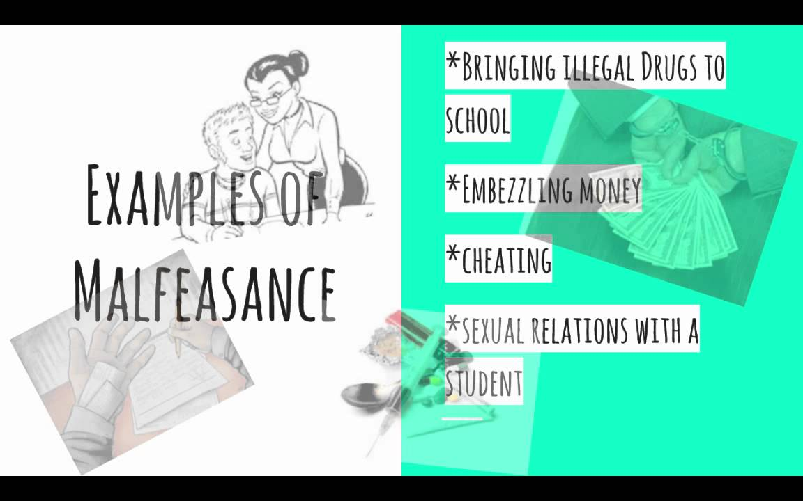 malfeasance misfeasance and nonfeasance essays Nonfeasance is a situation in which a person fails to perform a what is nonfeasance this concept is closely related to malfeasance and misfeasance.