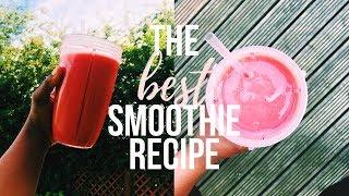DELICIOUS SMOOTHIE RECIPE! ✨ | Vegan Strawberry & Banana Smoothie