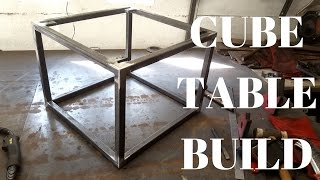 Building/welding a steel cube table