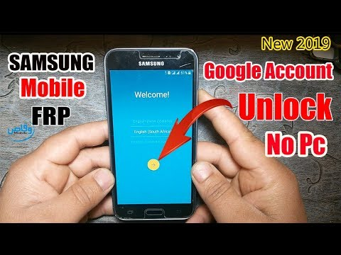 Samsung Mobile Google Account Frp Unlock Without Pc 2019