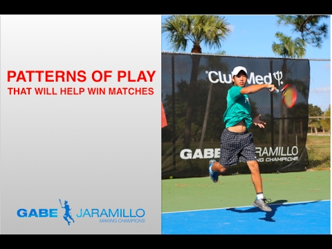 Patterns of play that help to win tennis matches