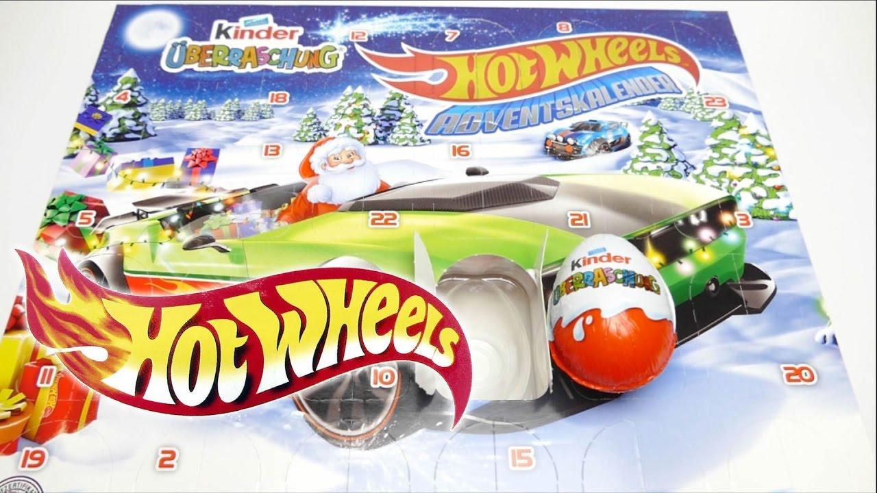Weihnachtskalender Hot Wheels.Hot Wheels Adventskalender Kinder 24 überraschungseier Mattel