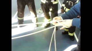 Вязка узлов пожарных. Пожарные узлы. Пожарный узел 2 способ