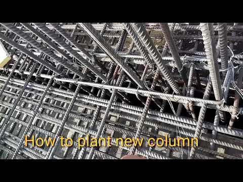 How to plant a new column at slab level in Dubai