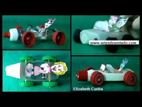 Carro Feito Com Garrafa Pet >> Carros Reciclados 03 Modelos Carrinhos De Garrafas Brinquedos