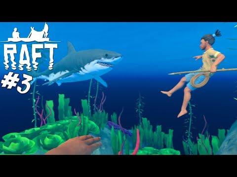 VI DYKKER! - Raft Multiplayer Dansk Ep 3 feat. Den Mandige Elg