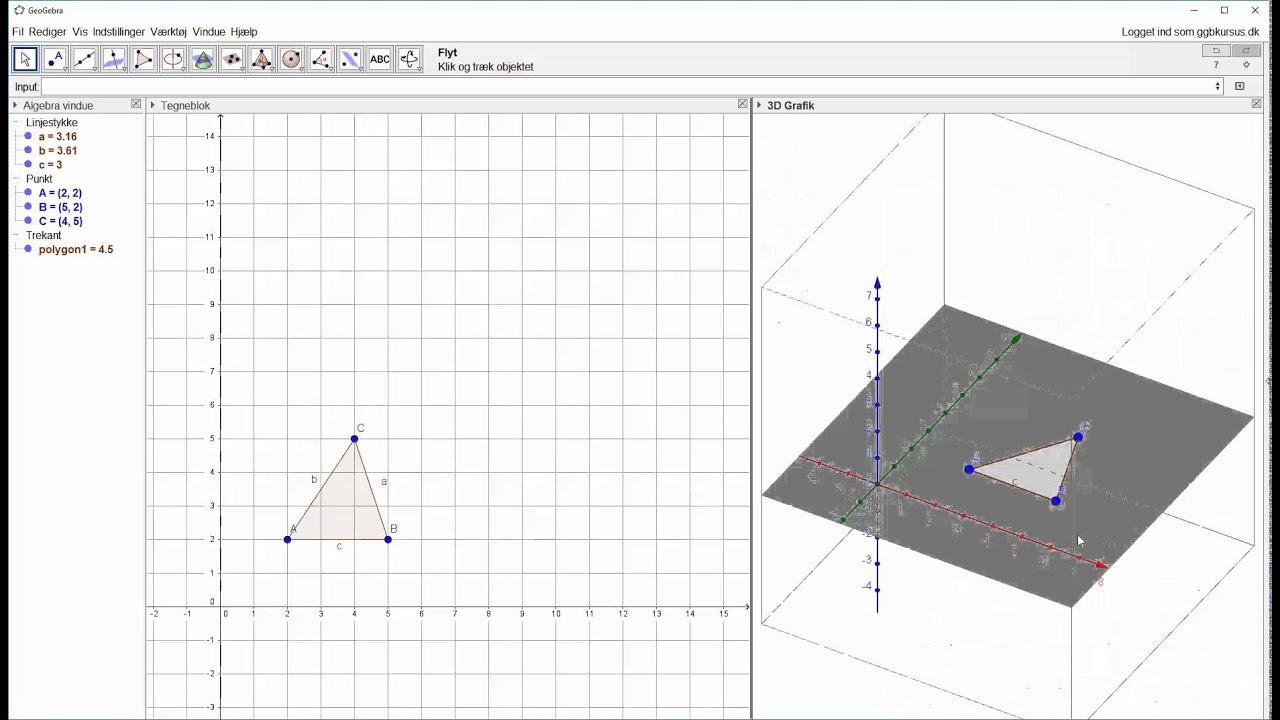 Trekant til pyramide i 3D