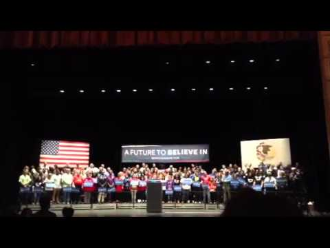 Bernie sanders at Roosevelt university in Chicago March 14