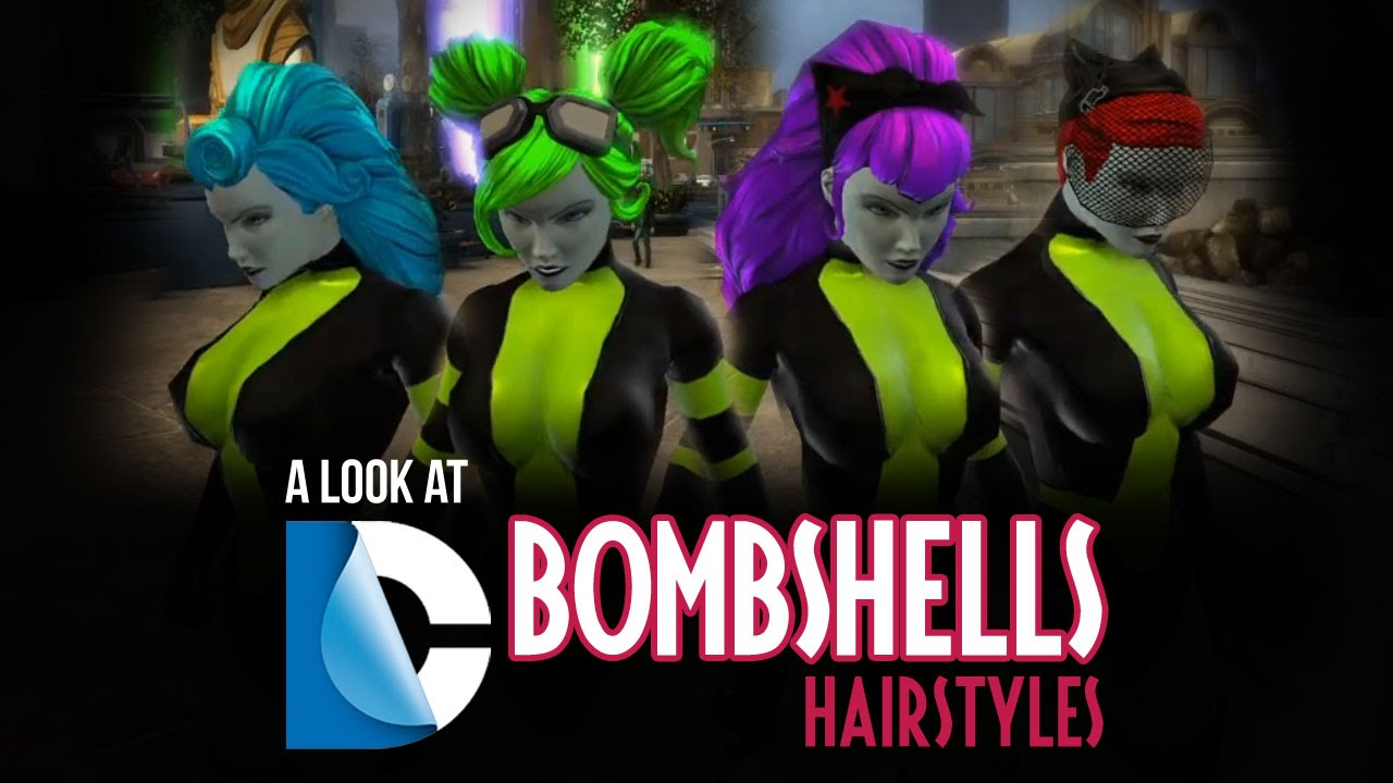 Online Hair Style: DC Bombshells Hairstyles