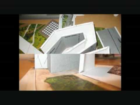 Papercraft Paper Model - Jewish Museum Berlin - Schreiber Bogen